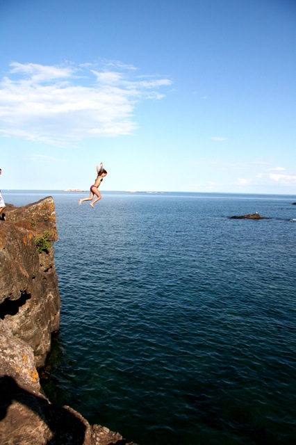 jumping off the cliff